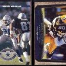 DARREN WOODSON 1996 Donruss #130 + 1998 Upper Deck #96.  COWBOYS