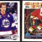 PHIL HOUSLEY 1992 Upper Deck #276 + 1996 Topps Super Skills #56.  JETS / FLAMES