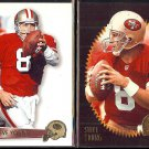 STEVE YOUNG 1995 Summit #34 + 1996 Summit #49.  49ers