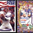 JIM KELLY 1992 AW Sports #153 + 1997 Pacific #80.  BILLS