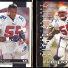 WILLIE McGINEST 1996 Score #47 + 1995 Impact #166.  PATRIOTS