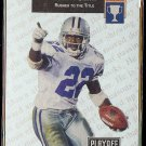 EMMITT SMITH 1993 Playoff Headliners Insert #H-3.  COWBOYS