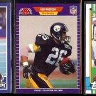 ROD WOODSON (3) Card Lot w/ 1989 Score + Pro Set + 1990 Topps.  STEELERS