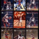 MICHAEL JORDAN (9) Card 1997 UD Tribute Lot w/ Foils + Special Effect.  BULLS