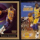 MAGIC JOHNSON 1990 Skybox #138 + 1992 Skybox #358.  LAKERS