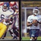 TYRONE WHEATLEY 1995 UD CC Rookie Class + 1995 AP Rookie Stars.  GIANTS