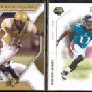 MIKE SIMS-WALKER 2010 UD SPX #56 + 2011 Panini R&S #71.  CENTRAL FLORIDA / JAGUARS