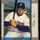 MATT LeCROY 2000 Bowman Rookie #257.  TWINS