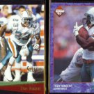 TROY VINCENT 1993 Select #74 + 1993 Edge #118.  DOLPHINS