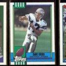 DAVE KREIG (3) Card Lot (1990 + 1991).  SEAHAWKS