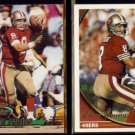 STEVE YOUNG 1993 Stadium Club #208 + 1994 Topps #60.  49ers