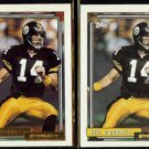 NEIL O'DONNELL 1992 Topps GOLD Insert w/ sister #122.  STEELERS