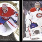 CAREY PRICE 2015 UD Trilogy #46 + 2011 UD Artifacts #31.  CANADIENS