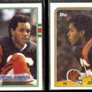 STANFORD JENNINGS 1988 Topps #342 + 1989 Topps #38.  BENGALS
