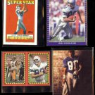 STEVE LARGENT (4) Card Lot (1988, 1989 + 1991).  SEAHAWKS