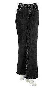 Denim & Co. Stretch Bootcut Jeans      BLACK  14