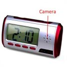 USB Rechargeable 2.0MP Pinhole Spy Camera Disguised in 2.7-inch LCD Alarm Clock