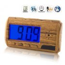 USB Rechargeable 2.0MP Pinhole Spy AV Camera Hidden in LCD Alarm Clock