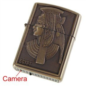 USB Rechargeable AV 1.3MP Pinhole Spy Camera Disguised as Working Lighter