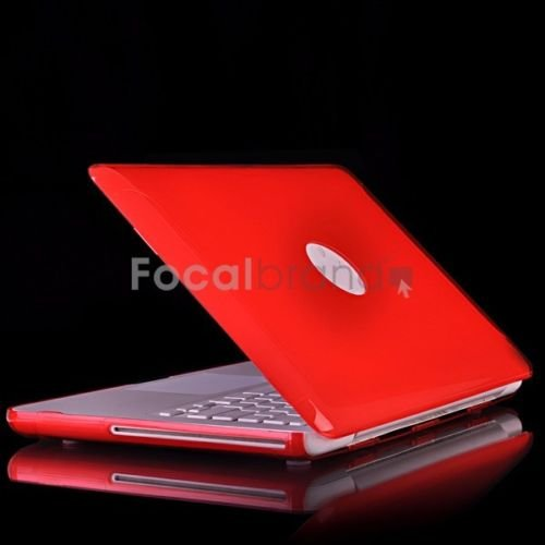 """Red Crystal Hard Case Cover for NEW Macbook 13"""" WHITE"""