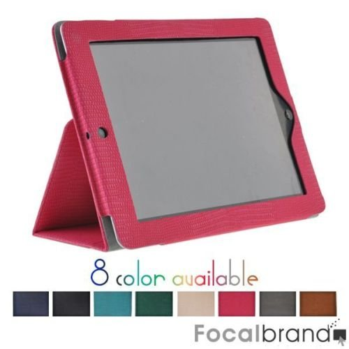 Rosy magnetic Leather Case cover with Stand for iPad 2