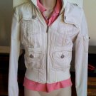 SUGARFLY Off White Cream Jacket Size Small