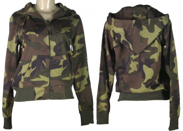 "Kenpo Girl - Junior Camouflage Hooded ""Ladies Tops"""