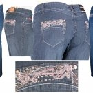"""ABM Jeans"" - Plus Size Stretch Denim 5-Pocket Design Jeans-Single Pair-Size 18"