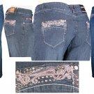"""""""ABM Jeans"""" - Plus Size Stretch Denim 5-Pocket Design Jeans-Single Pair-Size 18"""