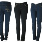 Jealousy-Junior Embroidered 5 Pocket Stretch Skinny Jeans-Single Pair-Size 5