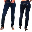 Peach Bottom - Junior Stretch Skinny Jeans with Rear Zipper Accents-Single Pair-Size 1