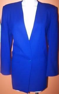 Oleg Cassini Ladies 10 Blazer Blue 100% Acetate