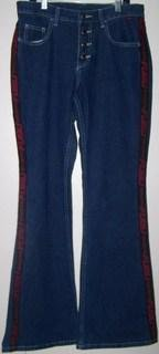 Fubu Ladies 9/10W Pants Red Letters