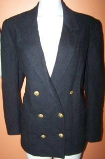 La Bonne Ladies 12 Blazer Black Anchor buttons