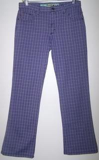 Mudd Ladies 11 Pants Purple Plaid Casual