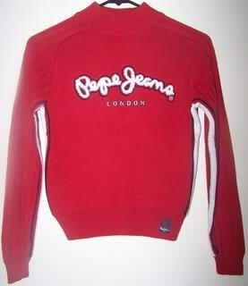 Pepe Jeans Boys L Sweater Pullover Red/White Stripes