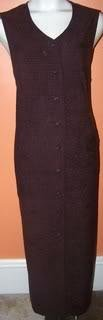 Jaclyn Smith Ladies 16 Dress Brown Long and Formal