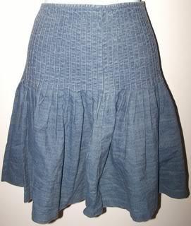 Ralph Lauren Ladies 6 Skirt Pleaded Gray Cute/Casual