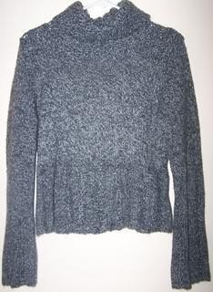 Studio Y Ladies Sweater Gray Knitted Long Sleeves