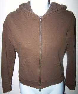 One Step Up Ladies M Sweatshirt Brown Zipper Front Hoodie