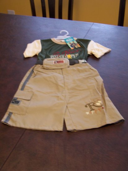 4t Xtralarge Toddlers, Boys 3 piece short set by Ha Ha NWT