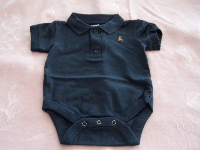 Navy Blue Baby Onesie Size 0-3 mos, NEW