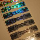 500 WARRANTY VOID DUMBELL HOLOGRAM LABELS w/ NUMBERING