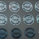 100 AUTHENTIC MERCHANDISE. HOLOGRAM LABELS STICKERS