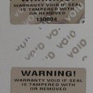2000 WARNING WARRANTY VOID LABELS-TAMPERPROOF-NUMBERING