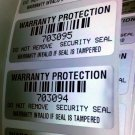 100 WARRANTY LABELS STICKERS GR8 4 PC XBOX PS3 MODS