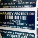 100 BLACK TAMPER EVIDENT WARRANTY VOID LABELS SEALS