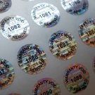 500 ROUND TAMPERPROOF WARRANTY VOID LABELS STICKERS