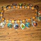 Set of Two Religious Charm Bracelet