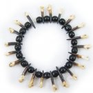 tibetan jewelry wrist chain  made of  fish and  dog teeth with singularity and strangeness